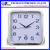 Silver Frame Logo Printing Square Plastic Wall Clock (Item27)