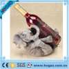 Elephant Polyresin Animal Print Wine Bottle Holder