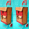 2 Wheel Smart Metal Supermarket Bag Hand Shopping Trolley Cart