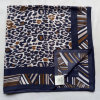 Polyester Square Scarf Dark Blue Scarf