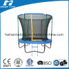 Trampoline with Fiberglass Poles on The Top of Enclosure