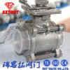 Stainless Steel Floating 3PC Threaded Ball Valve with ISO5211 Mounting Pad