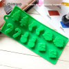 Refrigerator Green Tree Food Grade Silicone Cupcake Mold