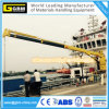 Wire-Luffing Electric Hydraulic 1t@31m Knuckle Telescopic Boom Ship Deck Crane