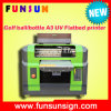 A3 UV Flatbed Printer Price, Brotherjet UV LED Printer, White Ink Supported UV Plotter