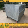 Roller Galvanized Steel Folding Warehouse Storage Cage, Wire Container, Mesh Storage Container Cages with Traction