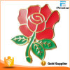 Customized Hard Enamel Zinc Alloy Beautiful Red Rose Pin Badge