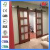 Hotel Molded HDF Interior Glass Barn Wooden Door (JHK-G17)
