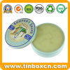 Small Round Metal Tin Can for Skin Care Cream