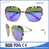 Selling Fashion Metal Frame Flat Mirrored Lens Sunglasses Cool Glasses