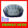 Deluxe Denim Printed Snuggle Dog Bed