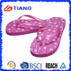PE Flip Flops for Girl with Shining PVC Upper (TNK10022)