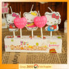 Pink Heart Print Hello Kitty Candle