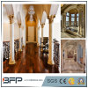 Luxurious Natural Beige/Gold Marble Half Colums and Pillars for Interior Decoration