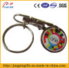Colorful Metal Trolley Token Coin Holder with Key Chain