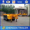 2 Axles Skeleton Trailer for 20ft Container Transporting
