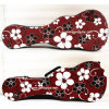 Colour Flower Leather Cover Ukulele Hard Playwood Case