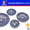 Huazuan Double Row Grinding Segment Metal Grinding Cup Wheel