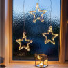 Battery Operated Warm White LED Acrylic Star Hanging Window Light LED String Light
