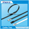 Full Coated Cable Ties Stainless Steel Ball Locking Cable Ties