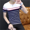 Striped O-Neck Cotton Men′s T-Shirt with Short Sleeve