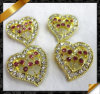 Fashion Charm, New Heart Charms, Jewelry Crystal Charm (RF018)