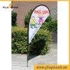 3.4m Outdoor Fiberglass Digital Printing Teardrop Flag/Flying Flag