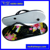 New Product Flower Print Two Layer Women Sandal PE Slipper