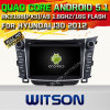 Witson Android 5.1 Car DVD GPS for Hyundai I30 2012 with Chipset 1080P 16g ROM WiFi 3G Internet DVR Support (A5724)