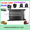 4 Channel 4G 3G Bus DVR System with HD 1080P Camera