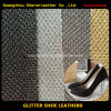 Hot Glitter Leather for Women's Shoes and Handbag