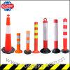 High Brightness Heavy Duty Flexible Round Plastic Road Bollards