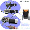 24V 276W 120rpm Left & Right Power Electric Wheelchair Motors with Joystick Lever & Controller