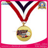 Iron Stamped Soft Enamel Sports Medal with Sublimation Ribbon