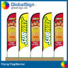 Custom Cheap Digital Printing Beach Feather Flags