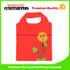 China Factory Red Reusable Polyester Folding Storage Shopping Bag