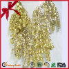 Decoration Gold Glitter Metallic Curly Ribbon Bow