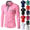 Mens Slim Fit Shirt Long Sleeve Dress Shirts (A447)