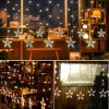 10m 12 LEDs Stars LED Curtain Light for Holiday Decoration