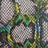 Python-Skin PU Synthetic Leather Fabcic for Handbags, Shoes.