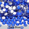 Flatback Nail Art Rhinestones Round Glass Stones Glue on Nail Beads Ab Strass Crystal (FB-ss20 ...