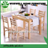 Pine Wood Furniture Dining Table with 4PC Dining Chair (W-DF-9050)
