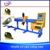 Simple and Stable Steel Hollow Tube Pipe CNC Plasma /Flame Cutting Drilling Slotting Machine