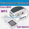 Digital Voice Recorder with 1.3m Camera, 640*480 AVI, MP3 Player, Wav, 600mAh Battery. Build in 8GB Memory