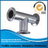 Ss 304 Stainless Steel 3A Tee Sanitary Welded Pipe Fitting Stainless Steel Auto Universal Joint by Forging Processing