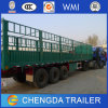 3 Axle Green Fence Cargo Semi Trailer for Sale
