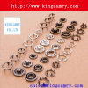Clothing Handbag Accessories Brass Prong Snap Button with Five Claws
