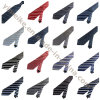 New Arrival Formal Business Edition Polyester Silk Striped Ties for Men