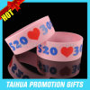 Printing One Inch Silicon Wristband with Promotion Item (TH-08939)