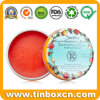 Small Rose Lip Balm Tin Metal Box for Cosmetics Packaging